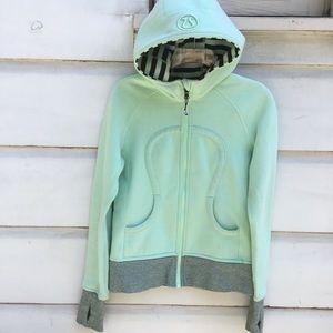 Mint green Lululemon zip front hoodie 6